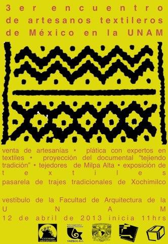 3 encuentro de artesanos textileros UNAM
