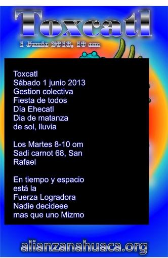 Toxcatl ilhuitl primera convocacion