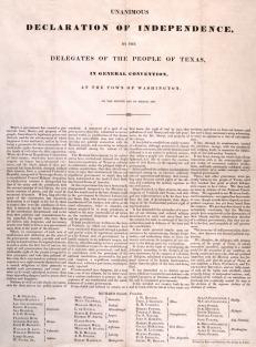 declaracion de independencia de texas