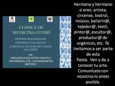 Clinica de Medicina Otomí, Inauguración