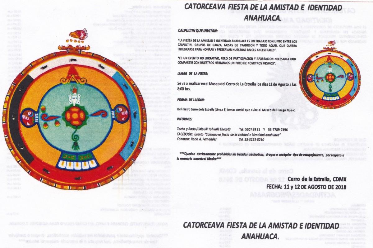 Catorceava Fiesta de la Amistad e Identidad Anahuaca | Alianza Anahuaca